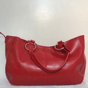 🌸ALDO Cherry Bright Red Satchel Large SnapHandbag